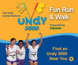 The Undy 5000 is a family-friendly 5K run/walk that was created by the Colon Cancer Alliance